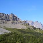 Panoramerbild von Wanderung auf die Binsalm